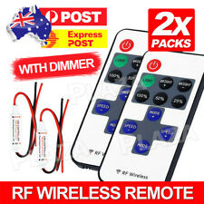 2X 12V RF Wireless Remote Switch Controller Dimmer for Mini LED Strip Light