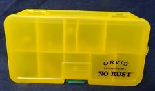 Orvis Rod and Tackle No Rust Large Fly Box + 12 Flies/Bugs - Meiho Made in Japan