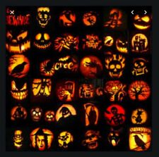 (PDF version)  200 Pumpkin Carving Patterns for Halloween  Template tool JOL