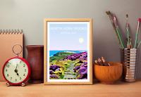 North York Moors Art Print, National Park Landscape, Wild Hiking Gift Walking