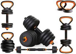 20Kg >FREE Resistance bands< 6 in 1 Adjustable Dumbbells 20kg set