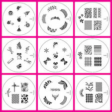 Any  1 Konad Design Image Plates of your choice for Nail Art Stamping transfer