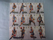 2013 SELECT  PRIME  AFL CARDS  NORTH MELBOURNE KANGAROOS  BASIC TEAM SET
