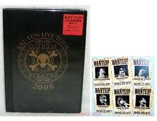 J-POP KAT-TUN 2008 Live Tour Queen of Pirates Taiwan Ltd 2-DVD+6 cards