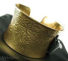 PILGRIM Wide Gold CUFF Bracelet BOHO NATURE Art Nouveau Design BNWT