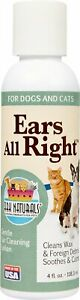Ark Naturals Ears All Right 4oz for Dogs and Cats Free Shipping