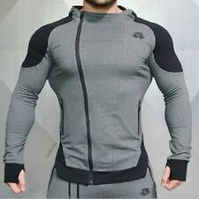 Men Hoodies Sweats Sweatshirt Hooded Fitness Gym Coat Sport Tops Bodybuilding