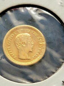 Guatemala 1860 4 Reales GOLD Coin + VF