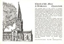 Postcard / Local History Card Church of St Mary & All Saints, Chesterfield