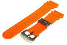 Divers 22mm Silicone strap for Seiko 6306/6309/7S26/7002 watches - Orange