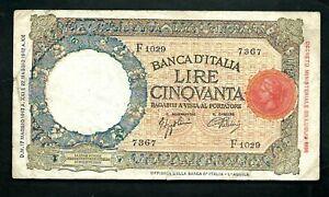 Italy (P58) 50 Lire 1943