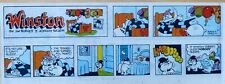 Winston by Sajem - Churchill Bulldog FIRST color Sunday comic page Sept. 1, 1985