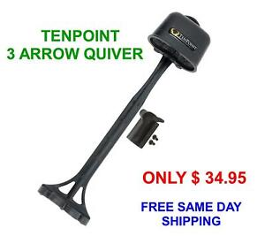 TENPOINT 3 ARROW QUIVER BRAND NEW QUICK DETACHABLE LIGHT WEIGHT BLACK FREE S/H