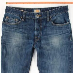 Mens HUGO BOSS ORANGE 25 Straight Blue Jeans W33 L34
