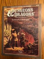 HIGH GRADE COPY!   Creature Catalog Dungeons & Dragons Accessory AC9 1986