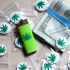 Marijuana 420 pot leaf sticker pack (10 stickers) clear vinyl dark weed decal
