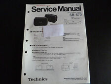Original Service Manual  Technics Hifi Speaker System SB-S70