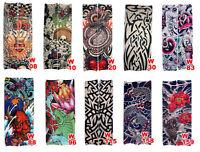10 PCS Mixed Styles Fake Temporary Tattoo Sleeve Arm Stocking Cosplay Tribal