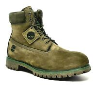 Timberland Mens 6-in Heritage Suede/Nubuck Leather Waterproof Boot, Olive US14