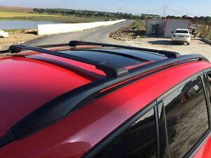 PORSCHE CAYENNE  02-09 ALUMINIUM LOCKABLE ROOF RAIL BARS RACK + CROSS BARS BLACK