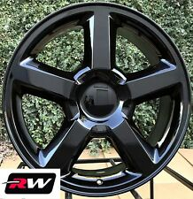 "20"" inch Chevy Tahoe LTZ Silverado Suburban OE Replica Wheels Gloss Black Rims"