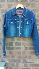 Cropped Vintage denim jacket jean jacket Size XS by Bong Jeans