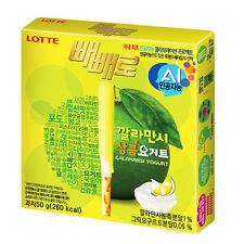 LOTTE Kalamansi Yogurt Covered Pepero 50g X 5 Packs Cracker Snack Refresh Taste