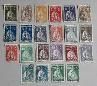 PORTUGAL 1912 Ceres series part set used mostly LH