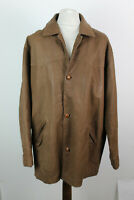 HAWKSHEAD Brown Leather Jacket Size XXL