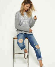 Superdry Womens Fusion-Line Logo Sweater Size XS