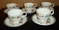 (5) Staffordshire ENGLISH PARTRIDGE Cups & Saucers