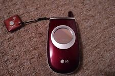 (Virgin/T-Mobile)  Rare LG C1200 Burgundy/Silver Mobile Phone collectors item