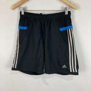 Adidas Mens Shorts Size S Small Black Elastic Waist Drawstring