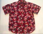 Chaps Ralph Lauren Patriotic Hawaiian Shirt Mens Large Tropical Aloha Camp Shirt