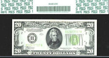 1934 $20 FRN NY ERROR INVERT-PCGS 53-LGS (LIGHT GREEN SERIAL) NUMBER