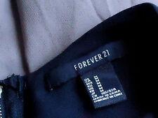 FOREVER21 BlackNudeSheerFauxSilkKeyholePartySzM as NEW