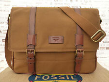 FOSSIL Messenger Bag TRAVIS BOOK Burgundy Satchel Shoulder Bags BNWT RRP£129