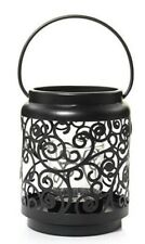 Yankee Candle Black Scroll Votive Holder Lantern