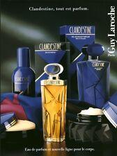 Publicité ancienne Parfum Clandestine Guy Laroche non parfumé