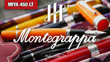 MONTEGRAPPA MIYA 450 YELLOW CELLULOID LIMITED EDITION FOUNTAIN PEN MSRP $1,000