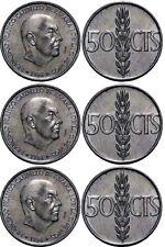 Lote 3 monedas 50 cent Céntimos Peseta año 1966* 69 71 y 73 SIN CIRCULAR Franco
