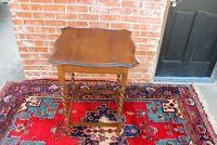 English Antique Oak Barley Twist Small Side Table | Living Room Furniture