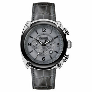 Ingersoll Men's I01201 Michigan Gray Dial 45mm Leather Watch