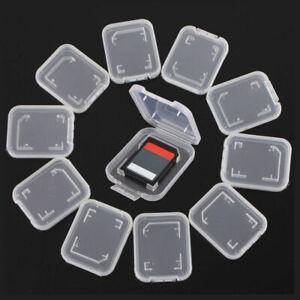 10PCS Transparent Standard SD SDHC Memory Card Case Holder Box Storage Plastic