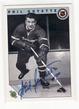 PHIL GOYETTE MONTREAL CANDIENS    AUTOGRAPHED CARD