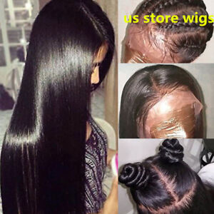 US Pre Plucked Brazilian Human Hair wigs Full  Wigs Glueless Lace Wigs