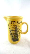 "Cutty Sark Mustard Yellow Pitcher 7"" Tall Scots Whisky"