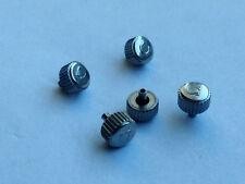 LOTTO di 5 X OMEGA OROLOGIO IN ACCIAIO INOX CORONA CHIAVI (5.02 mm x 2.04 mm) (OC-21)