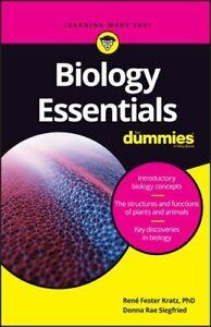 Biology Essentials For Dummies by Rene Fester Kratz 9781119589587 | Brand New