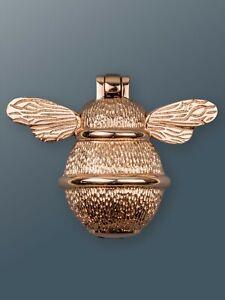 Brass Bee Door Knocker - Rose Gold Finish - Solid Brass Bumble Bee Door Knocker